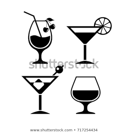 Glass of cognac with lemon on white Stock photo © Escander81