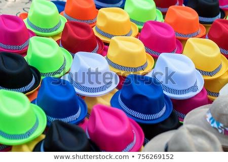 colored panama hats stock photo © rhamm