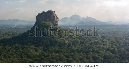 eski · budist · Sri · Lanka · şehir · bulutlar · taş - stok fotoğraf © hofmeester