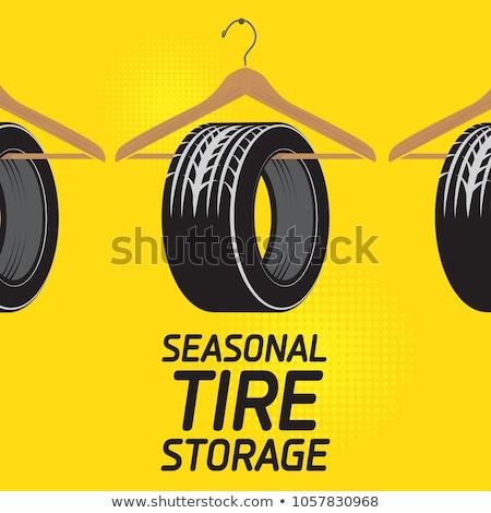 winter · banden · teken · glad · weg · auto - stockfoto © dashadima