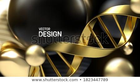 altın · DNA · soyut · tıbbi · model · Metal - stok fotoğraf © silense