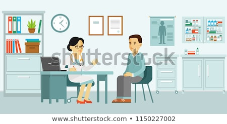 Disabled young man at doctor office Stock photo © stokkete