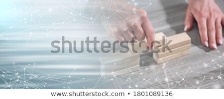 связи разрыв вектора бизнеса сеть пузырьки Сток-фото © burakowski