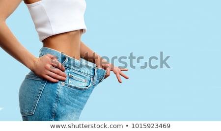 успешный · диета · женщины · Рисунок · джинсов - Сток-фото © kurhan