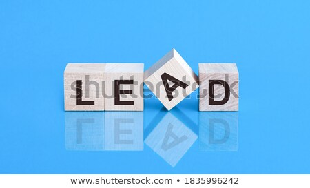 team building in blue glass blocks Stock photo © marinini