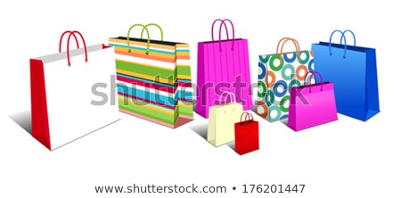Selection of Shopping Bags, Carrier Bags Icons Symbols Stock photo © fenton