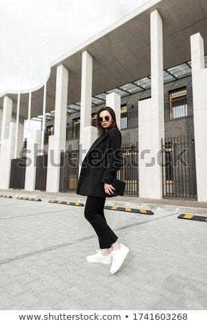 黒 ハンドバッグ 女性 孤立した 白 ストックフォト © shanemaritch