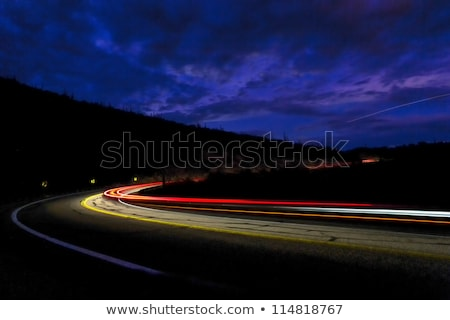 headlights of car in the mountains of Arizona Stock photo © meinzahn