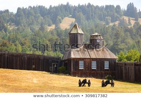 kale · park · rus · köy · ev - stok fotoğraf © meinzahn