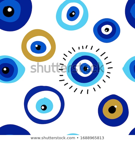 Illustration of Turkish evil eye bead Stock photo © gladiolus