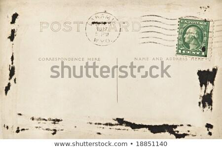 ヴィンテージ はがき 1 セント 紙 ストックフォト © Hofmeester