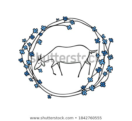 goats on in flower me stock photo © ustofre9
