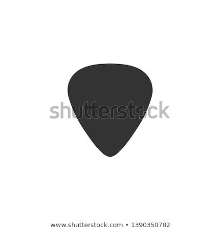 гитаре изолированный белый фон концерта пластиковых Сток-фото © diabluses