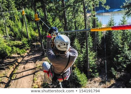 girl on zip line stock photo © bigandt