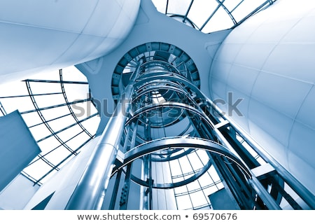 Escada rolante edifício moderno negócio projeto tecnologia vidro Foto stock © Nejron