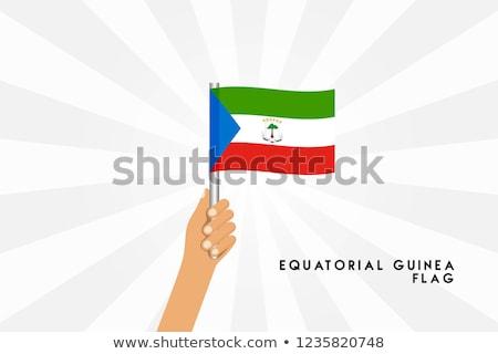 Guinea Small Flag on a Map Background. Stock photo © tashatuvango