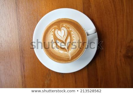 先頭 表示 コーヒー ブラウンシュガー 黒 レトロな ストックフォト © jirkaejc