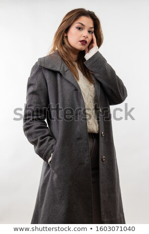 Isolated sensuous young calm female model Stock photo © stockyimages