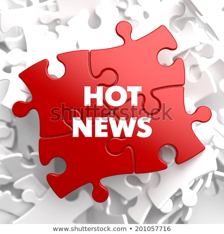 hot news on red puzzle stock photo © tashatuvango