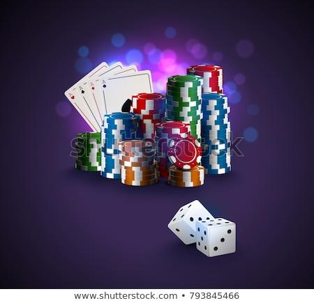 casino · banners · ingesteld · teken · groene · pak - stockfoto © carodi