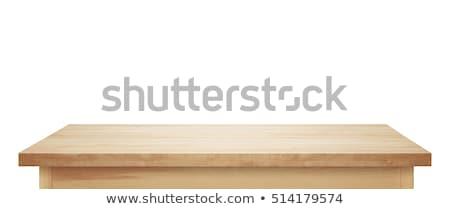 houten · tafel · witte · huis · hout · mode · home - stockfoto © punsayaporn
