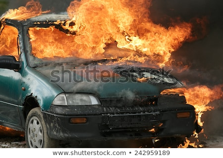 Stok fotoğraf: Car And Fire