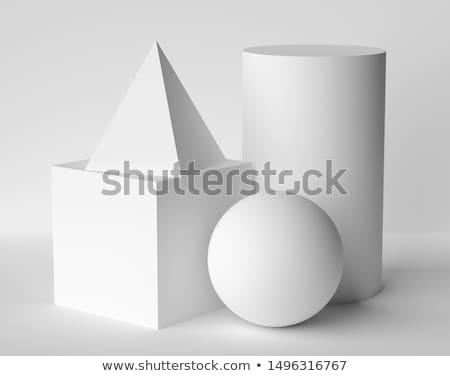 3D · resumen · cubo · pelota · forma · azul - foto stock © montego