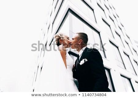 mooie · aantrekkelijk · bruid · bruiloft · luxueus · jurk - stockfoto © victoria_andreas