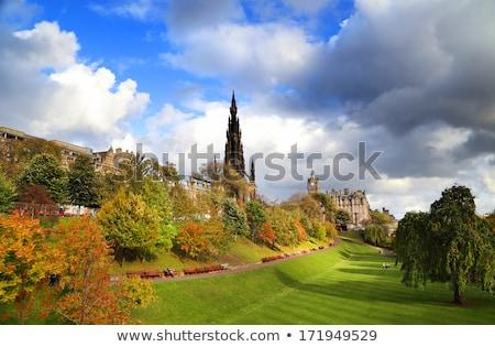 Edimburgo princesa jardins escócia edifício rua Foto stock © Julietphotography