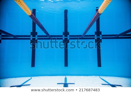 Empty 50m Olympic Outdoor Pool From Underwater Stock photo © aetb