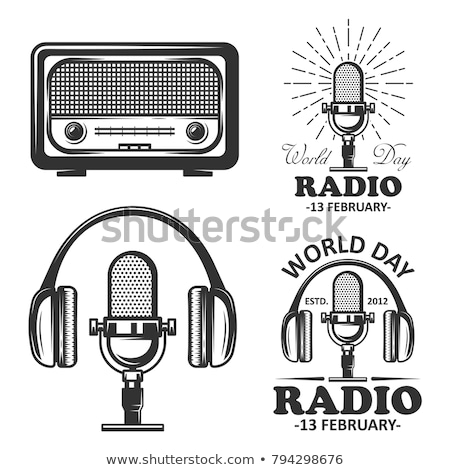 retro · radio · zestaw · wektora · ilustracja · odizolowany - zdjęcia stock © Mr_Vector