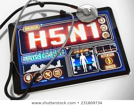 Stock photo: H5N1 on the Display of Medical Tablet.