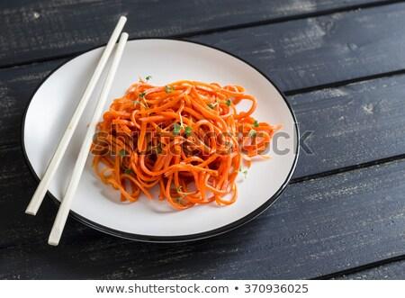 Stock fotó: Saláta · ázsiai · stílus · füstölt · tyúk · uborkák