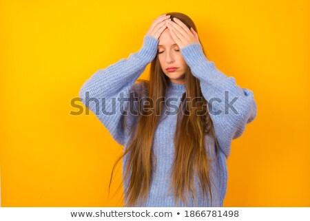 Güzellik baş ağrısı sarışın genç Stok fotoğraf © Dave_pot