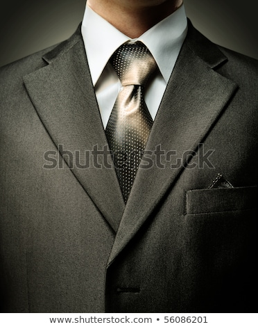 Man's style. suit, shirt and necktie with striped Stock photo © mikhail_ulyannik