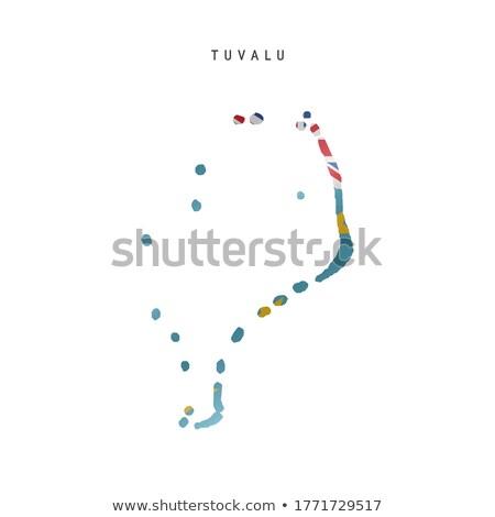 Tuvalu mapa diferente símbolos branco mundo Foto stock © mayboro1964