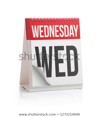 Wednesday Calendar Schedule Blank Page Stock photo © stevanovicigor
