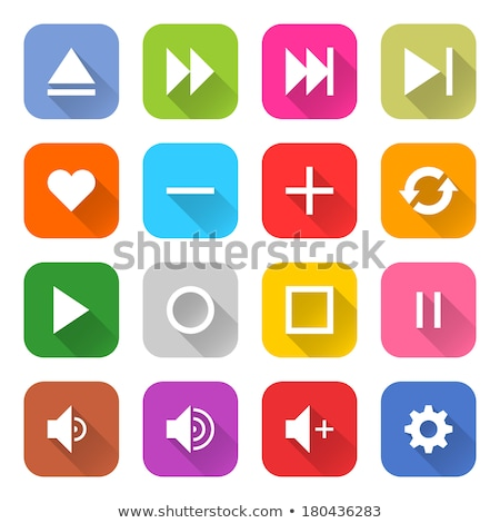 Menos vetor roxo ícone web botão Foto stock © rizwanali3d