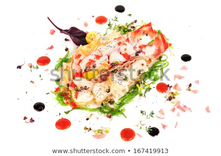 lobster salad in japanese style stock photo © sarymsakov