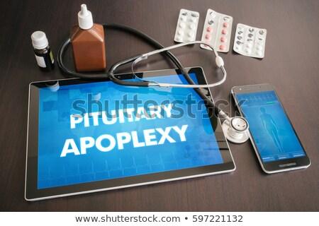 Apoplexyon the Display of Medical Tablet. Stock photo © tashatuvango