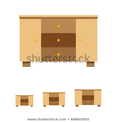 Chest of Drawers flat icon Stock photo © Anna_leni