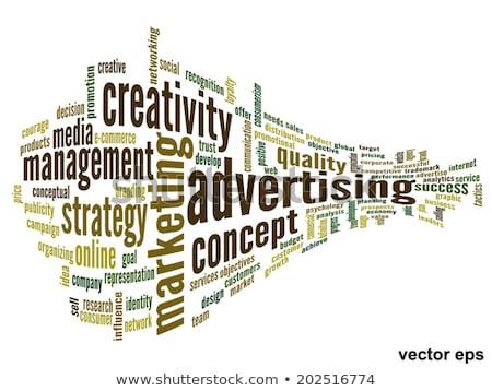 trends wording isolate on white background Stock photo © vinnstock