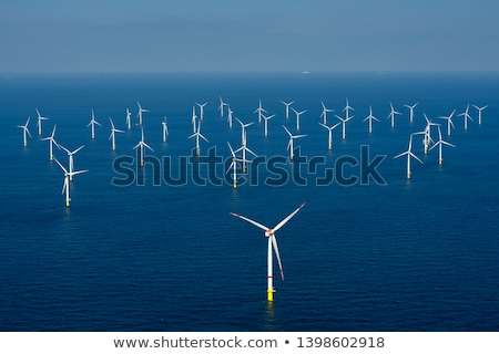 Offshore szél energia park Dánia természet Stock fotó © slunicko