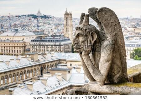 архитектурный детали собора Париж известный Сток-фото © sarymsakov