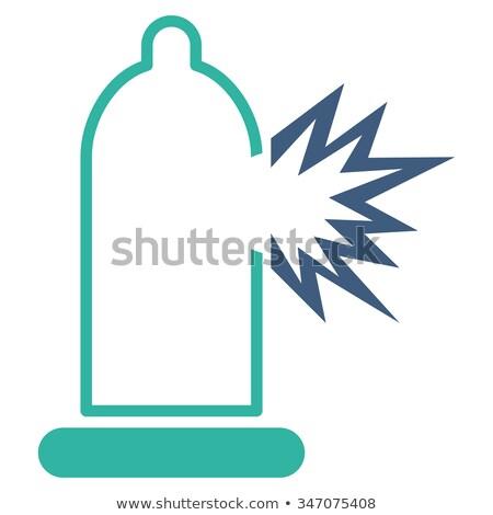 Condom bursting icon on white background. Stock photo © tkacchuk