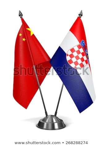 China Croácia miniatura bandeiras isolado branco Foto stock © tashatuvango