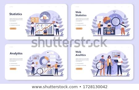 команда развития бизнеса диаграмма иллюстрация Бизнес-стратегия Сток-фото © kgtoh