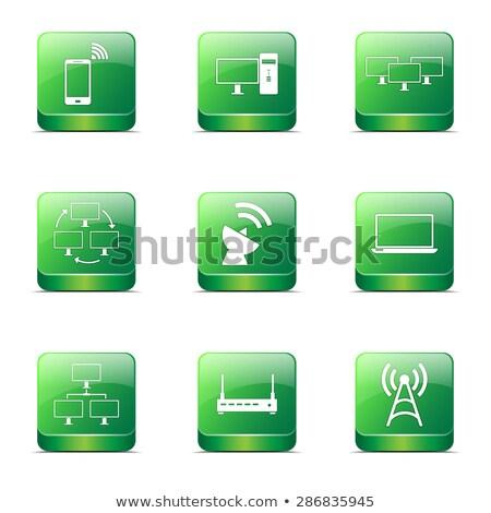 kommunikáció · tér · vektor · zöld · ikon · terv - stock fotó © rizwanali3d