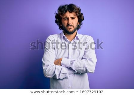 jonge · boos · zakenman · stress · hoofdpijn - stockfoto © fuzzbones0