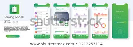 Finanziaria banking verde vettore pulsante icona Foto d'archivio © rizwanali3d